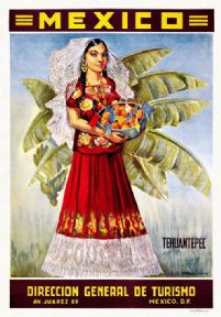 Vintage Travel Poster Tehuantepec Mexico